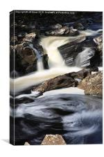 Waterfall in Glen Orchy, Canvas Print