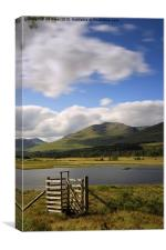 Loch Tulla Gate , Canvas Print