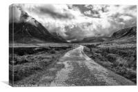 The Path Through Glen Coe , Canvas Print
