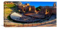 Greek Roman Amphitheatre Taormina, Canvas Print