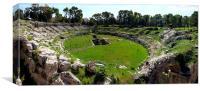 Amphitheatre Syracuse, Canvas Print