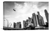Singapore skyline, Canvas Print