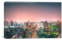 Bangkok City Lights, Canvas Print