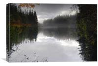 Lake upside-down, Canvas Print