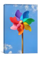 Pinwheel or Windmill Against a Blue Sky, Canvas Print