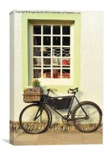 Bike Outside Old-Fashioned Shop, Canvas Print