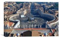 St Peters square, Canvas Print