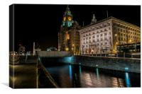 Liverpool Liver buildings, Canvas Print