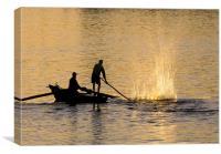 Dawn Fishermen, Aswan, Canvas Print