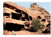 Bedouin Caves of Petra, Canvas Print
