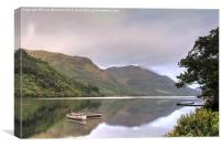 Calm & Tranquility on Loch Fyne, Canvas Print