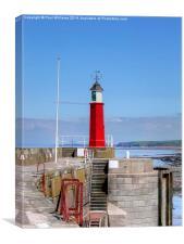 Watchet Harbour Light, Canvas Print