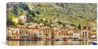 Symi Harbour, Canvas Print