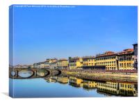The River Arno, Canvas Print