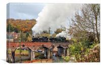 Steam Locomotion on Coalport Viaduct, Canvas Print
