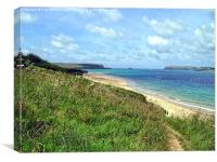 Camel Estuary and Padstow Bay, Canvas Print