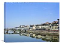 The River Arno in Florence , Canvas Print