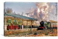 Green Arrow Arriving at Hellifield, Canvas Print