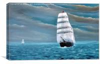 Brigantine from Porthmadog, Canvas Print