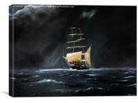 Night Storm, Canvas Print