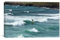 Surfers at Polzeath, Canvas Print