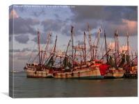 Deep Sea Fishing Boats , Canvas Print