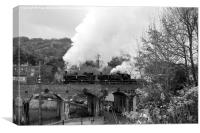 Steam on Coalbrookdale Viaduct, Canvas Print