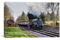 Bittern Leaving Crowcombe Heathfield, Canvas Print