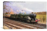 Train Leaving Highley, Canvas Print