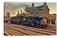 GWR 5029 at Highley, Canvas Print