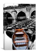 Durham river boats, Canvas Print