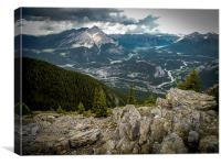 Canadian Rockies, Banff Gondola Sulphur Mountain a, Canvas Print