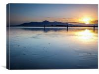 Mourne Mountains From Tyrella Beach, Ireland, Canvas Print