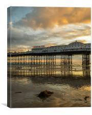 Brighton Pier at Sunset, Canvas Print