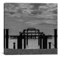 West Pier, Canvas Print