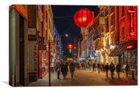 Chinatown, London at Night, Canvas Print