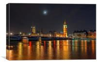 Houses of Parliament, London, Canvas Print