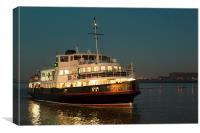 Liverpool and Wirral River Mersey Ferry, Canvas Print