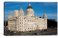 Port of Liverpool Building, Pier Head, Liverpool, Canvas Print