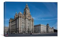 The Three Graces, Liverpool, England, Canvas Print