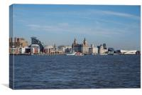 Liverpool Waterfront and Architecture, Canvas Print