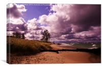 Michigan Stormy Skies, Canvas Print
