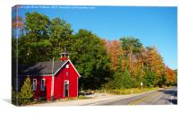 The Red Schoolhouse, Canvas Print