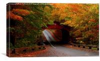 Fall Covered Bridge, Canvas Print
