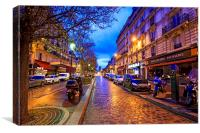Paris by night, Canvas Print