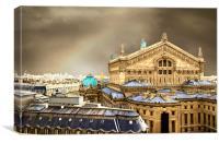 Opera house in Paris, Canvas Print