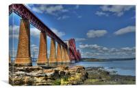 The Forth Bridge, South Queensferry, Scotland, Canvas Print