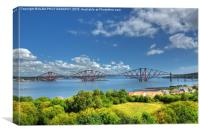 The Forth Bridge, South Queensferry, Scotland. , Canvas Print