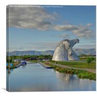The Kelpies, Helix Park, Scotland., Canvas Print