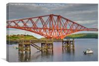 Forth Rail Bridge, South Queensferry., Canvas Print
